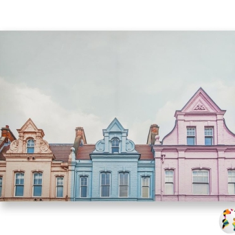 105882 Obraz Pretty Pastel Skyline Graham&Brown